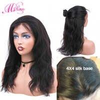 Seide Basis Perücken Körper Welle 13X4 Spitze Front Menschliches Haar Perücken Pre-Gezupft Nicht Remy Brazilian Perücken für Schwarze Frauen MS Liebe