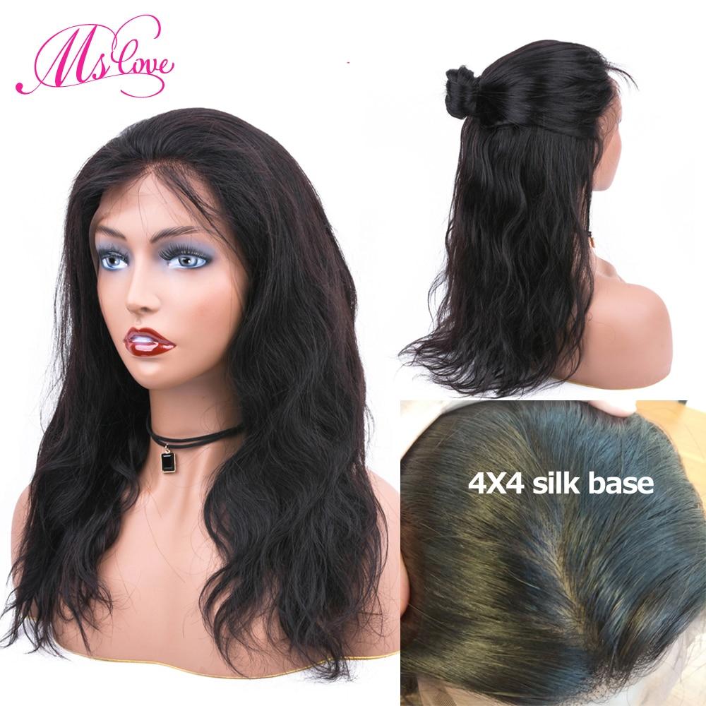 Silk Base Wigs Human Hair Body Wave Lace Front Human Hair Wigs Glueless Fake Scalp Wig Remy Brazilian Wigs For Black Women Hair