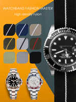 Militar pára-quedas tecido de náilon pulseira de relógio para bronze baía 20mm 22mm 21mm 23mm cinta para iwatch banda acessórios