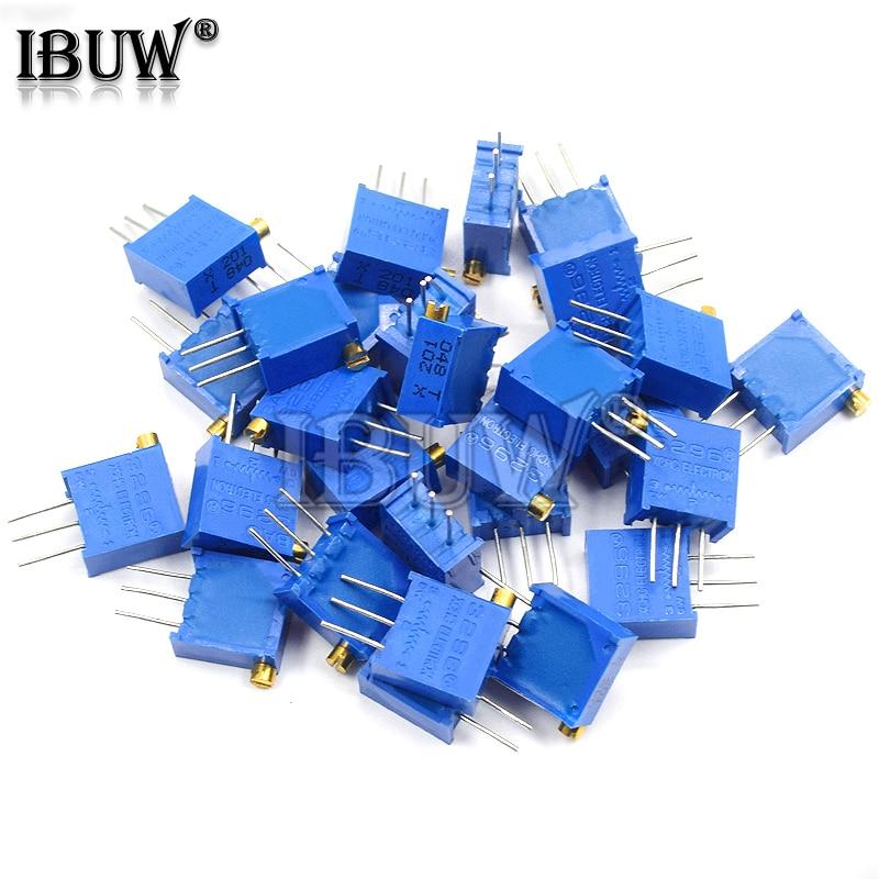 PCS 3296 3296X 10 Trimpot Trimmer Potenciômetro resistanceohm 20 10 5 2 1K K K K K K 100K 200K 500K 1 50 M ohm 100R 200R 500R