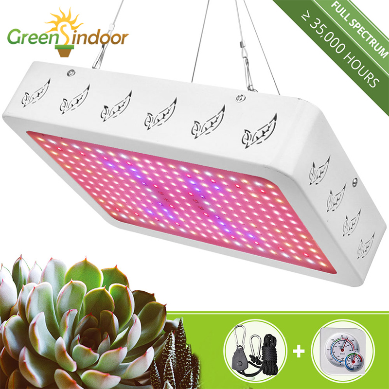 2000W 1000W Indoor Phyto Lamp Full Spectrum LED Grow Light Grow Tent Lamp For Plants Growing Lamp For Flowers With Thermometer