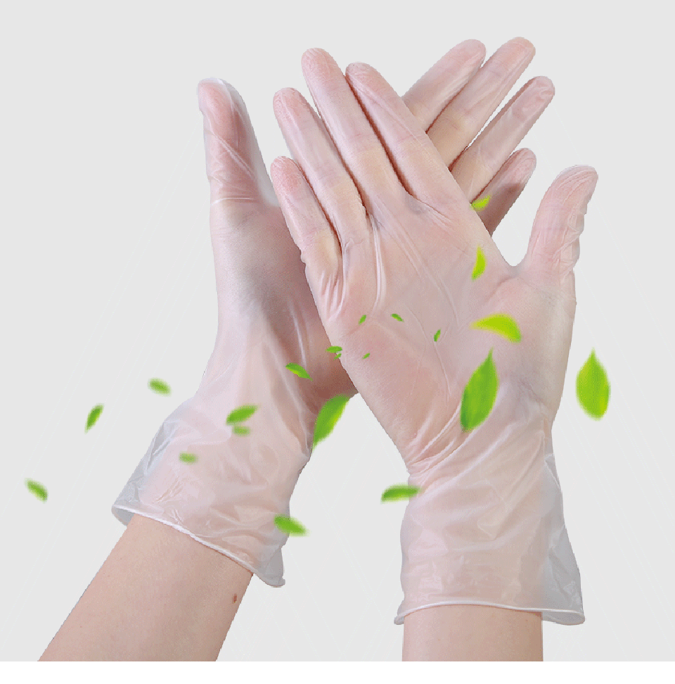 100pcs Transparent Disposable PVC Gloves Waterproof Allergy Latex Food Grade Sterile Gloves Safety Anti Dust Glove