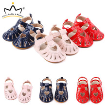Summer Love Heart Baby Shoes Soft PU Leather Sandals Anti-slip Rubber Sole Baby Girl Sandals Girls Toddler Shoes Sandales