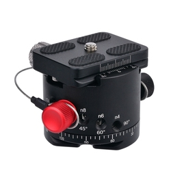 DH-50 Panoramic Ball Head Indexing Rotator Tripod Head Aluminum Alloy Max. Load 22Lbs for Canon Nikon Sony DSLR Camera
