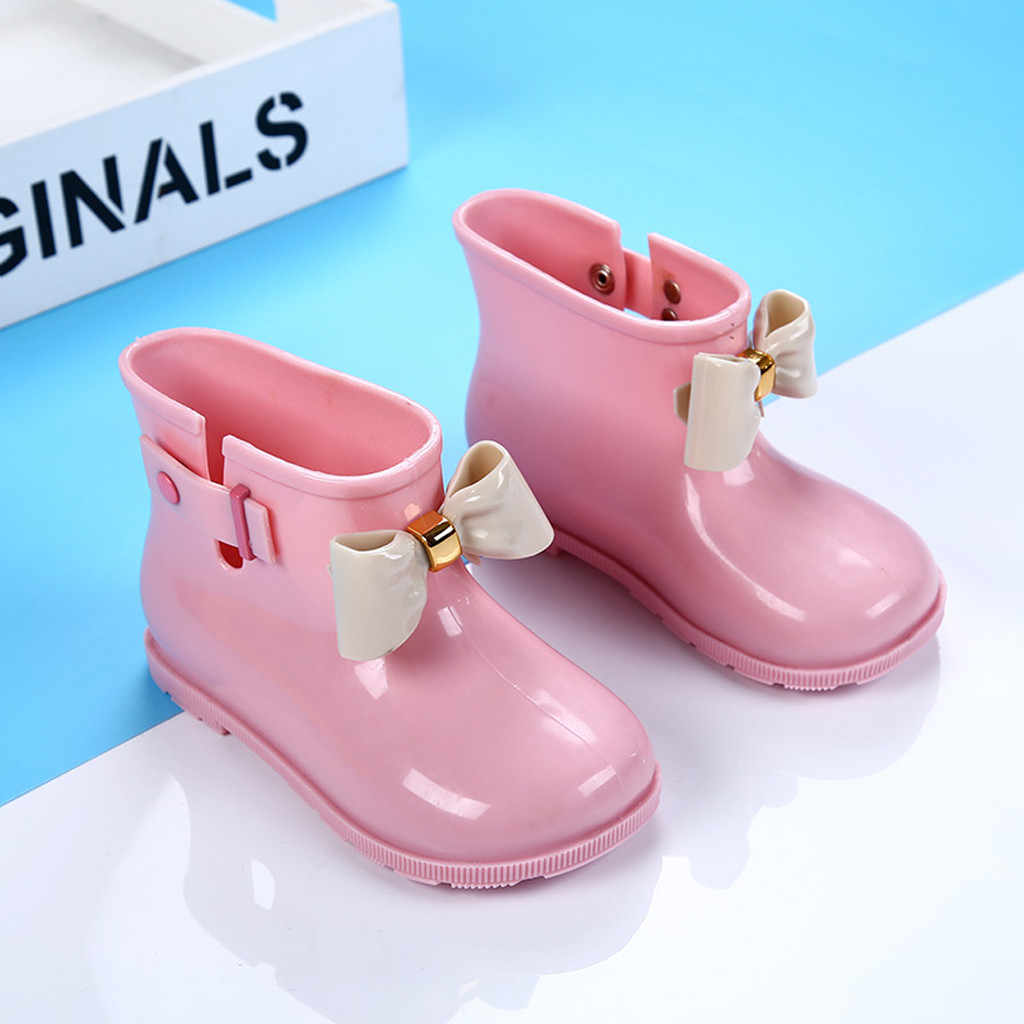 Waterproof Kids Boys Girls Boots Rubber Infant Baby Rain Boots Kids Shoes Children Winter Boots Girls Jongenslaarzen Botas Nina