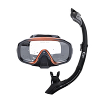 Professional Anti fog Scuba Mask Diving Mask Underwater Swimming Silicone Mask+Breathing Tube Set Snorkeling Hunting Equipment
