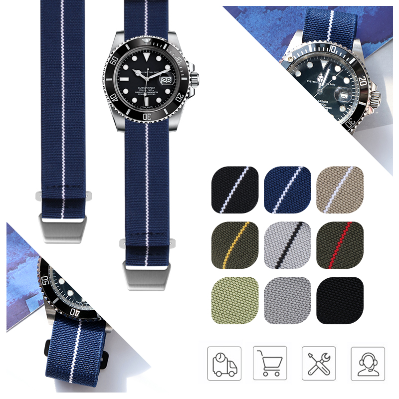 Military Parachute Nylon Fabric Watchband Watch Strap For Bronze Bay 20mm 22mm 21mm 23mm Strap For Iwatch Band Accessories