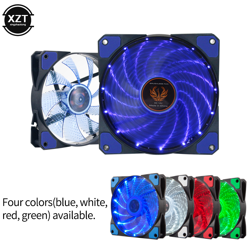 80mm x 25mm 12V 4pin 4 Blue Color LED Cooling Fan For PC Case CPU GPU Cooler