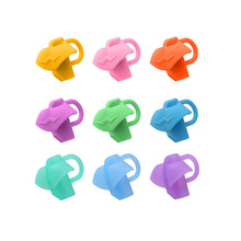 100 Pcs Pen grip Silicone Three-finger pen grip pen holder Student writing posture corrector School stationery office writing