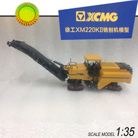 Collectible Alloy Model 1:35 XCMG XM220K2 Planer Engineer Machinery Truck Construction Vehicles DieCast Toy Model Decoration