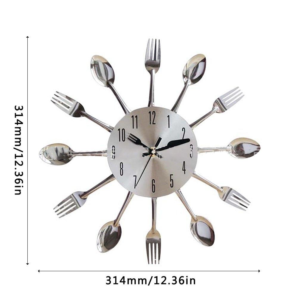 Нержавеющая сталь нож вилка ложка кухня ресторан настенные часы украшение дома настенные часы многофункциональные инструменты