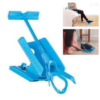 1pc Sock Slider Aid Blue Helper Kit Helps Put Socks On Off No Bending Shoe Horn Suitable For Socks