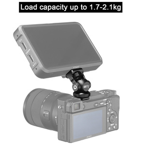 Image 2 - UUrig R015 Vlogger Monitor Mount Adapter Cold Shoe Ballhead Monitor Bracket Mic Holder Canon Nikon DSLR Camera Gimbal Accessory