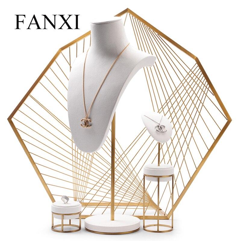 Oirlv nouveauté bijoux affichage en cuir collier boucle d'oreille Bracelet présentoir avec Base en métal pour bijouterie