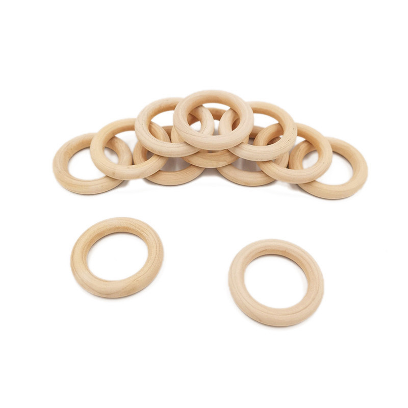 1.5-7cm Natural Wooden Round Rings DIY Necklace Jewellery Making Craft New