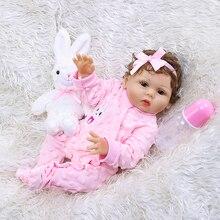 Bebe Reborn Baby Girl Giraffe Dolls for Girls Full Body Vinyl Realistic 18 Inch For Kids Birthday Gift Christmas Surprise Toys