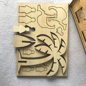 Image 5 - Drop Shipping Wooden Eid Mubarak Ramadan Home Party Ornament Decor Muslim Islamic Palace Puzzle Storage Box Gift DIY