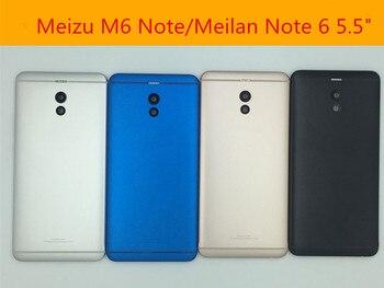 Para Meilan Note 6 cubierta posterior de la batería 5,5 pulgadas de piezas de repuesto de teléfono móvil caso para Meizu M6 nota M721H caso reemplazar