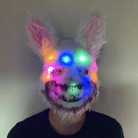 Halloween Mask LED Bunny Bloody Killer Horror Masks Plush Cosplay For Children And Adults