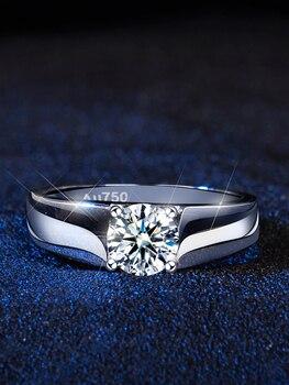 Silver Moissanite Ring Jewelry Diamond Jewelry