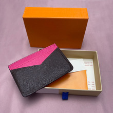 Brand top grade leather wallet texture credit card card holder traffic card free delivery
