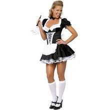 Halloween Costume Lingerie Maid-Uniform Adult Woman Stage-Performance Party