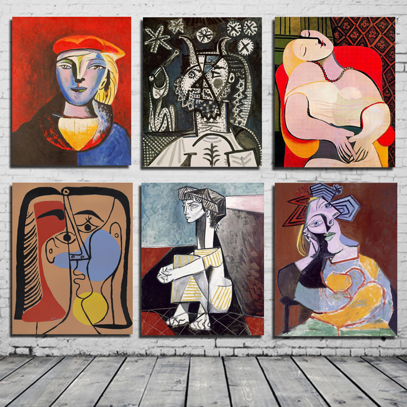 Pablo Picasso Abstract Wall Art Canvas Painting Posters Prints Modern Painting Wall Pictures For Living Room Home Decoration Painting & Calligraphy     - title=