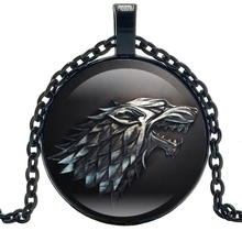 HOT! 2019 Movie Surrounding King Right Game Necklace Fashion Anime Glass Convex Round Pendant Charm Jewelry