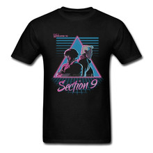 Ghost In The Shell Welcome To Section 9 Men T-shirt Vaporwave T Shirt O-neck Short Sleeve Cotton Brand Summer Tops
