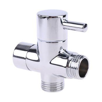 Chrome Brass G1/2 3 Way Valve Adapter Shower Diverter Water Separator for Bathroom Toilet Bidet Sprayer 3 ways shower diverter valve g1 2 three way t adapter valve for toilet bidet or handheld shower head