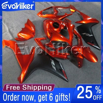 Custom motorcycle fairing for YZF-R1 2007-2008 YZFR107 08 motorcycle bodywork kit Injection mold orange +gifts