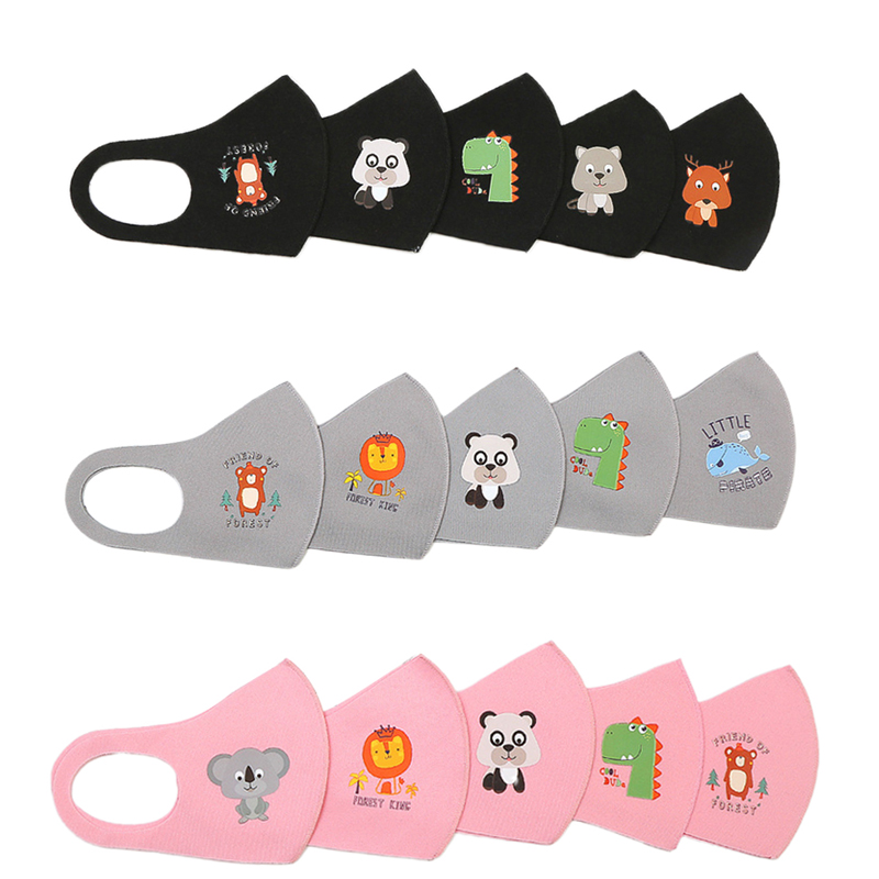 10 Cartoon Kid Outdoor Face Mask Lion Rabbit Boy Girl Outdoor Anti Dust Protection Mouth Mask Washable Respirator Filtrator Mask
