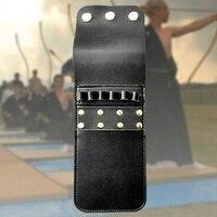 Leder Bogenschießen Köcher 6 Pfeile Köcher Tasche Halter Pfeile Tasche-in Beutel aus Sport und Unterhaltung bei