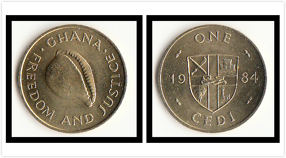 Ghana 1 Cedi 1984 Edition Coins Africa New Original Coin Unc Collectible Real Rare Commemorative