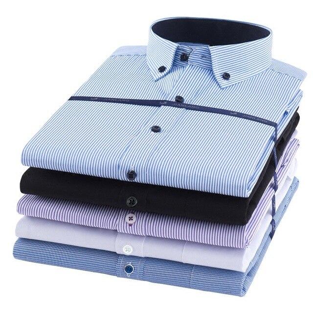 Мужские рубашки с длинным рукавом, большие размеры 8XL, однотонные, в полоску, 7XL, 6XL