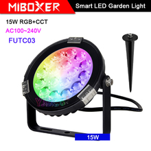 Miboxer 15W RGB+CCT Smart LED Garden Light FUTC03 AC100~240V IP65 Waterproof led Outdoor lamp Garden Lighting citall 2pcs abs black headlight head lamp light brow deco cover trim sticker car styling fit for toyota camry se xse 2018 2019