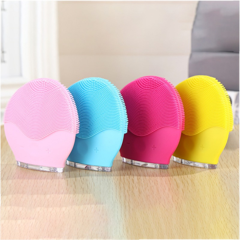 Sonic Face Cleanser Portable Silicone Face Cleansing Brush Skin Care Exfoliating Massage Instrument Beauty Makeup Tool