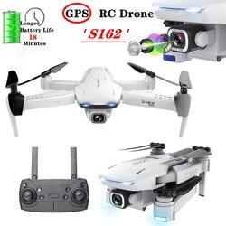 S162 GPS Drone 5G WIFI FPV 4K aparat profesjonalny Selfie składany Quadcopter Fly 18 minut 600 metrów Mini Drone VS XS812 zabawka prezent