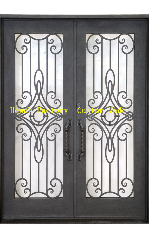 Shanghai Hench Brand China Factory 100% Custom Made Sale Australia In Stock Iron Doors
