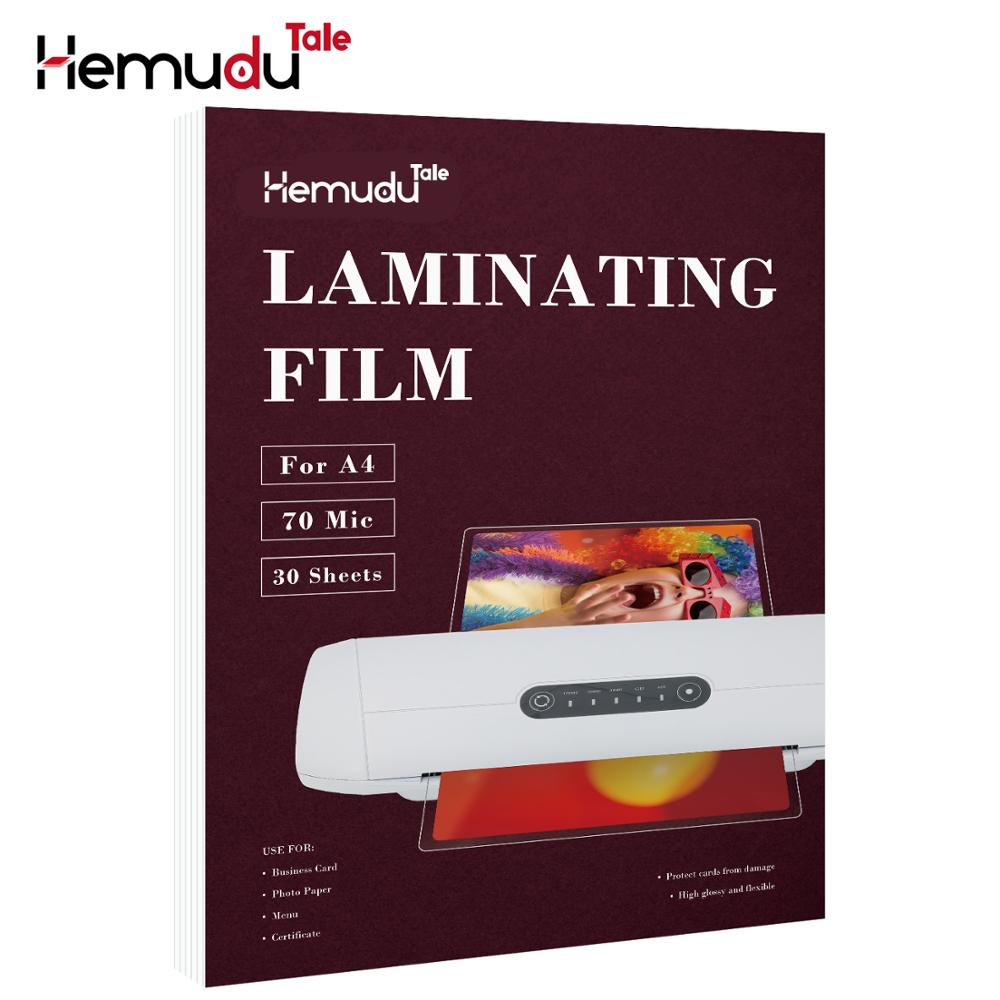 A4 70mic Laminating Film PET+EVA For Photo/Files/Card/Picture Lamination Roll Film Plastic Film 30 Sheets