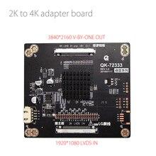 2K 4K Truyền Ban 60Hz 4K V Do Một Trong 8 Ngõ Đến 60hz 2K LVDS Chuyển Đổi Bảng 4K Adapter Ban 3840*2160 V Do Một Trong 4K dây Cáp