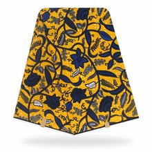 African Wax Prints Fabric Ankara Polyester Print Rea lWax High Quality 6 yards for Party Dres