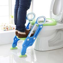 Infant Potty Seat Urinal Backrest Training Chair Supplies Step Stool Ladder Foldable For Baby Toddlers Safe Toilet Potties HWC