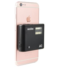 Godox A1 Lithium Battery Smartphone Flash Light with 2.4G Wireless System Trigger for iPhone X XS 8 7 6S Plus Mobilephone