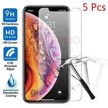 Protetor de tela de vidro temperado para iPhone, proteção para iPhone 11 Pro XS MAX iPhone XR XS X 8 7 6s Plus