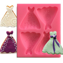 Cake Mold Plunger-Cutter Sugar-Craft Cake-Decorating Fondant Skirts Biscuit Lily