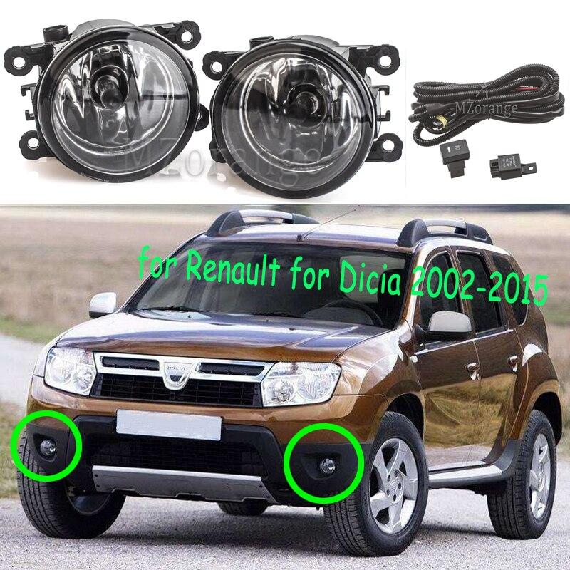 Fog Lights for Renault Duster Koleos Kangoo Megane For Dacia Logan Sandero 2004-2015 halogen Lamp Light foglights