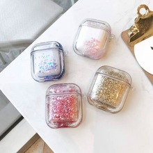 3D Glitter Quicksand Cover For Airpods Case Liquid Earphone Case For Apple Air pods 2 Case Headphone