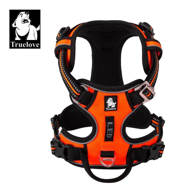 Truelove Lead Dog-Vest Pet-Reflective No-Pull Vehicular Safety Adjustable Walking Running