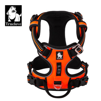 Truelove Pet Reflective Nylon Dog Harness No Pull Adjustable Medium Large Naughty Dog Vest Safety Vehicular Lead Walking Running- 1